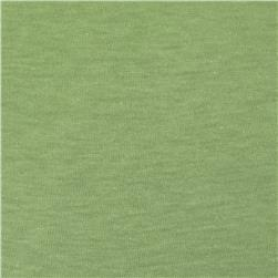 Cotton Jersey Knit Solid Aloe Green
