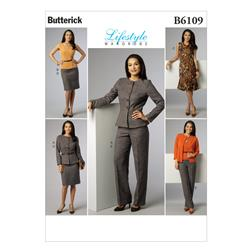 Butterick Misses' Jacket Top Dress Skirt and Pants