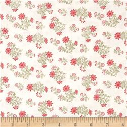 Moda Whitewashed Cottage Daisy Sprays Linen