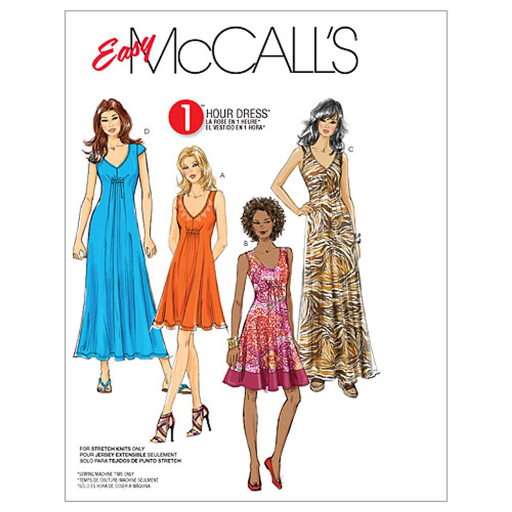 McCall's Misses' Dresses In 3 Lengths Pattern M6074 Size A50