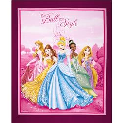Disney Princesses My Ball My Style Panel Pink