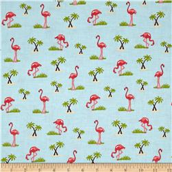 Riley Blake Novelty Flamingo Aqua