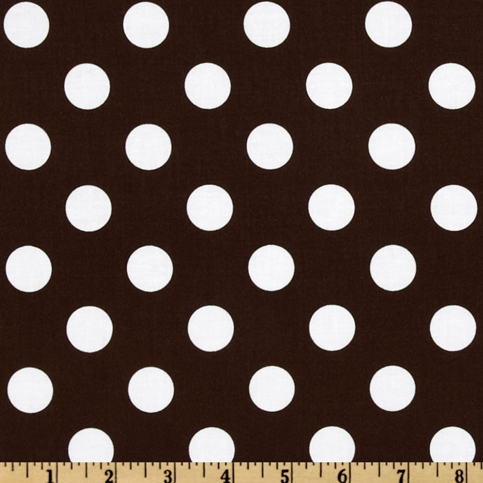 Riley Blake Dots Medium Brown Fabric