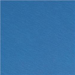 Jersey Cotton Slub Knit Cerulean Blue
