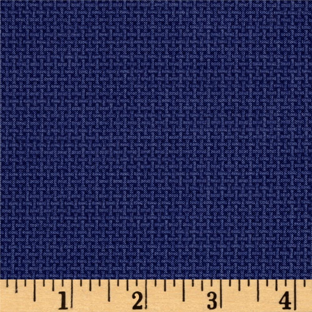 Chelsea Solid Navy Blue Fabric