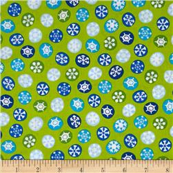 Silly Snowman Snowflakes Green