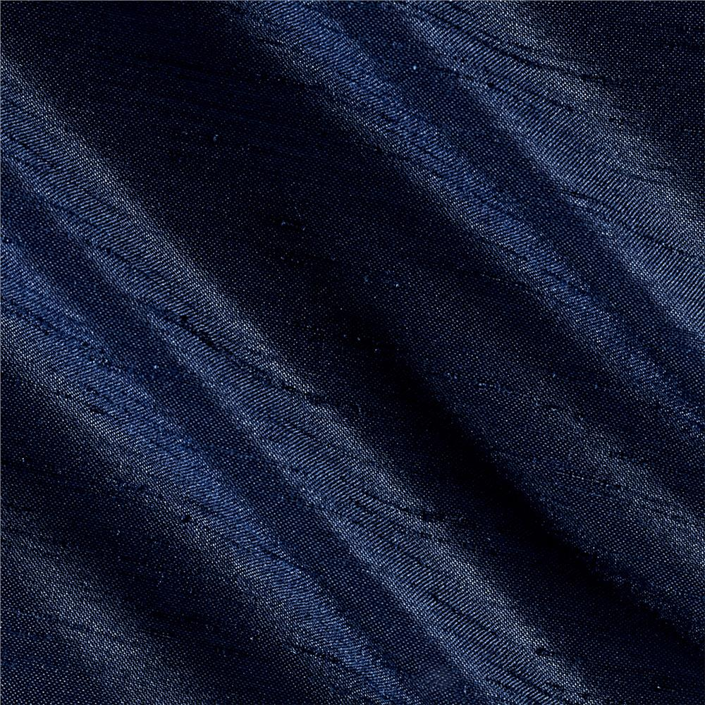 Shantung Sateen Navy Fabric