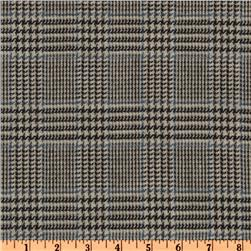 Wool Suiting Houndstooth Black/Grey/White