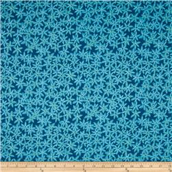 Michael Miller Sea Holly Star Flowers Teal