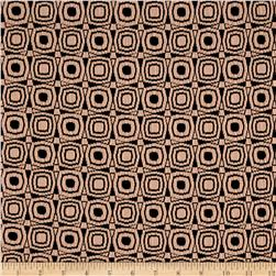 Double Knit Jacquard Mod Circles Black/Bisque Pink