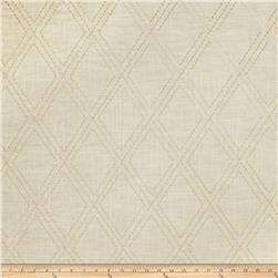 Jaclyn Smith 02615 Embroidered Linen Cashew