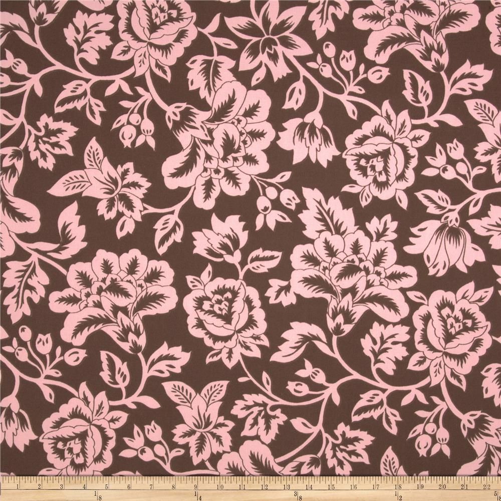 Caymans Indoor/Outdoor Flower Show Brown/Pink