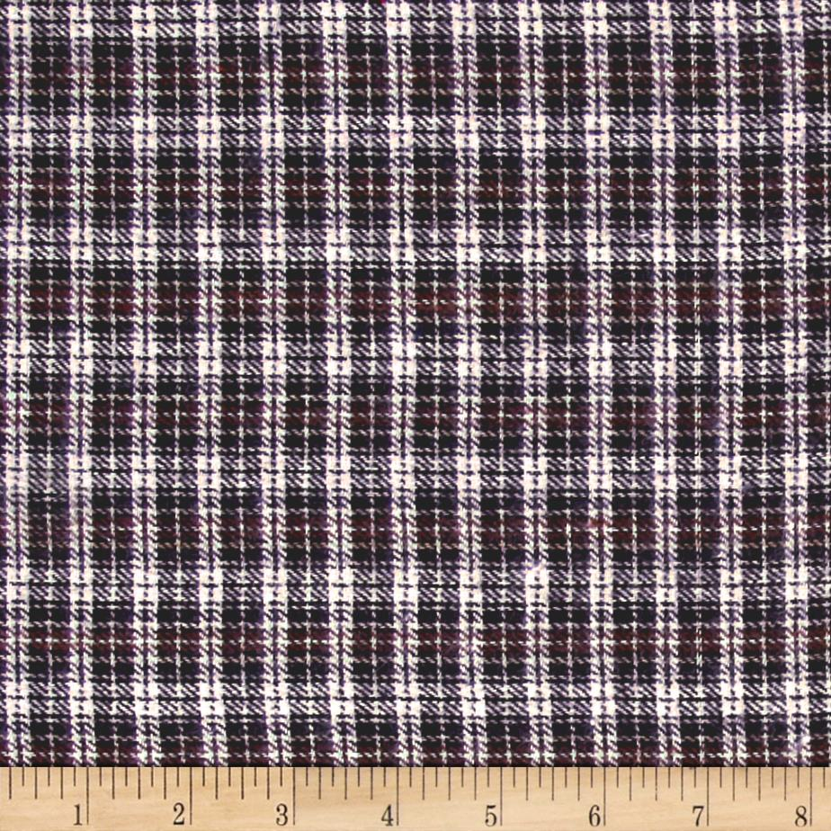 Yarn Dyed Flannel Mini Plaid Brown/White/Black Fabric