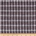 Yarn Dyed Flannel Mini Plaid Brown/White/Black