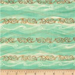 Sea of Tranquility Small Stripe Green
