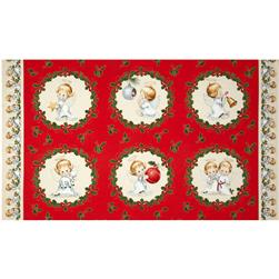 Christmas Angels Metallic Panel Cream