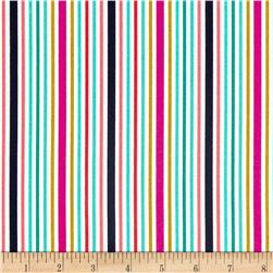 Michael Miller Bake Shop Awning Stripes Berry