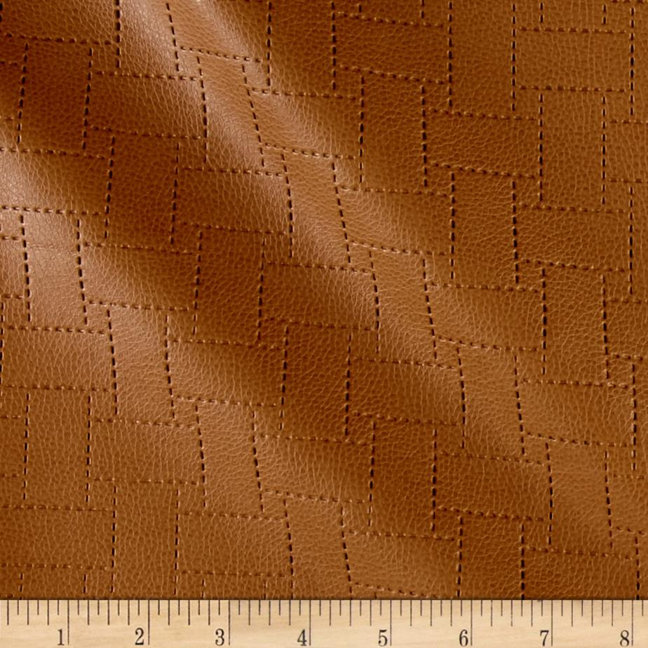 Richloom Faux Leather Garvin Patchwork Clay