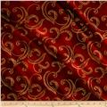 Kanvas Autumn Splendor Metallic Gold Garland Dark Red