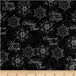 Winter Bliss Snowflake Black