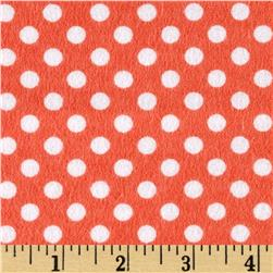 Flannel Polka Dots Grapefruit