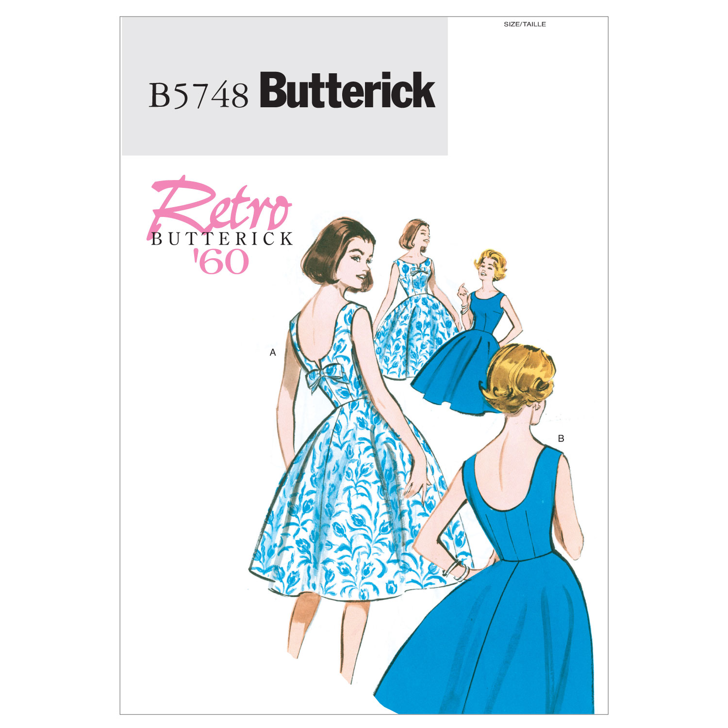 1950s Sewing Patterns | Swing and Wiggle Dresses, Skirts 1960 Butterick MissesMisses Petite Dress Pattern B5748 Size A50 $14.98 AT vintagedancer.com