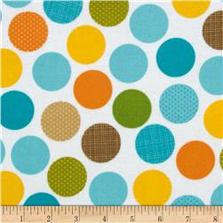 Riley Blake Summer Breeze Flannel Dot White