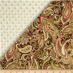 Lauren Double Sided Quilted Paisley Multi Fabric