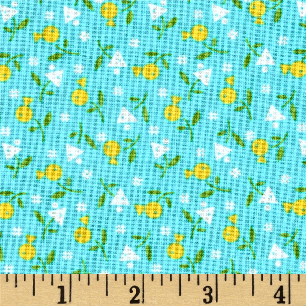 Farmhouse Blooms Geo Flower Yellow