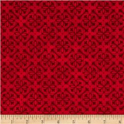 Snow Much Fun Snowflake Lattice Berry Red