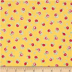 Lecien Flower Sugar Small Rose Toss Yellow