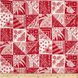 Bombay Diagonal Patch Red