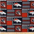 NFL Wide Cotton Broadcloth Denver Broncos Patchwork Blue/Orange
