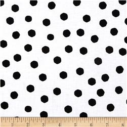 Loralie Fast Women Jumbo Dots White/Black