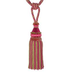 Fabricut Selah Single Tassel Tieback Passion