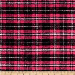 Yarn Dyed Plaid Flannel Pink/Black