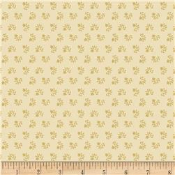 Pomegranate Lane Tonal Flowers Tan