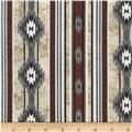 Timeless Treasures Cabin Rules Cabin Stripe Cream