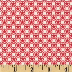 Riley Blake Flannel Sasparilla Stars Red