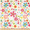 Riley Blake Snug as a Bug Large Floral Pink