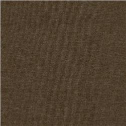 Cotton Poly Baby Rib Knit Heather Brown