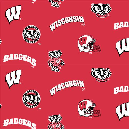 Collegiate Fleece University of Wisconsin Tossed