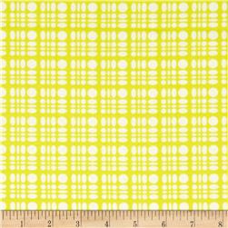 Heather Bailey Clementine Dot Weave Lemon Fabric
