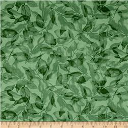 Timeless Treasures Harmony Monotone Leaves Green