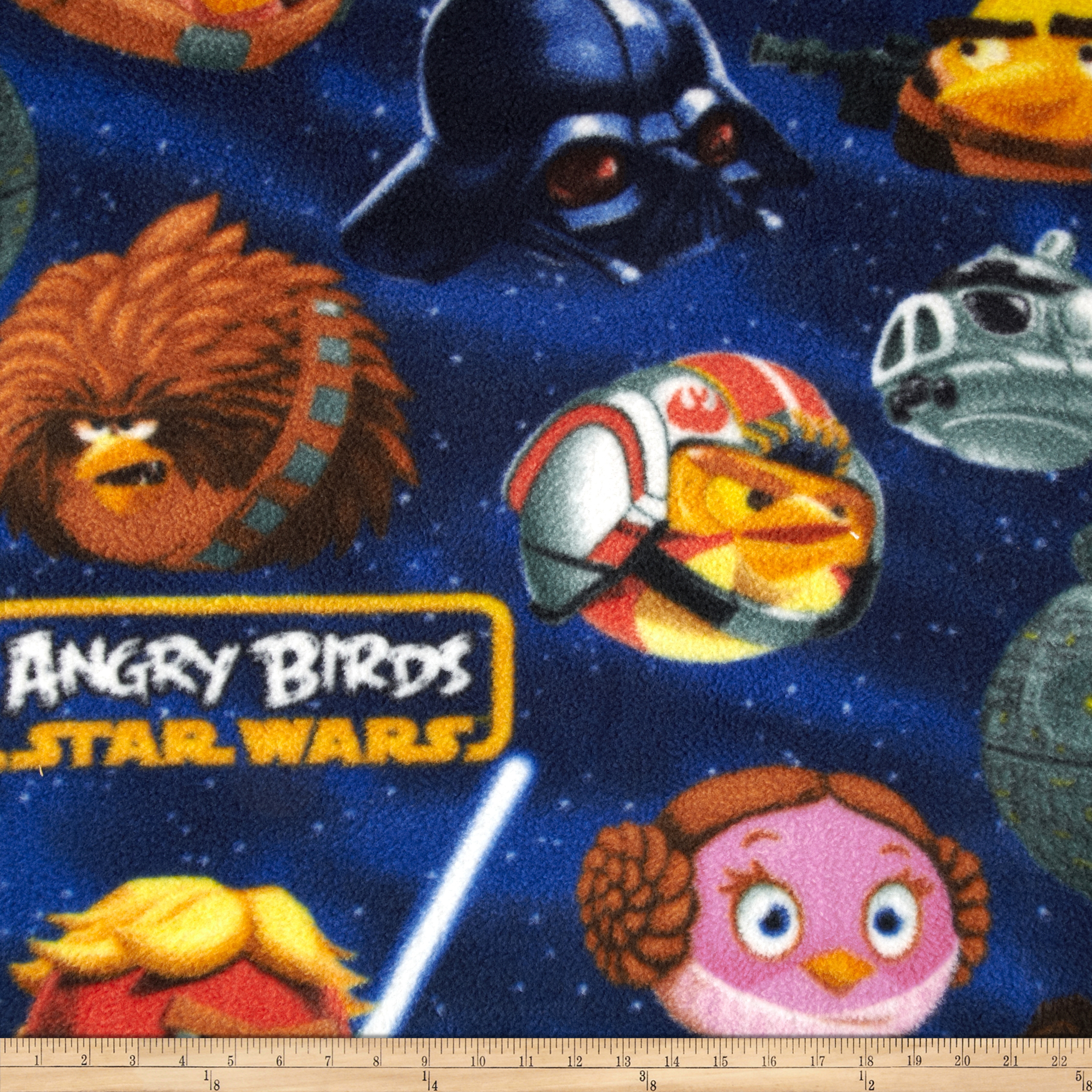 Angry Birds Star Wars Fleece Helmets Navy Fabric