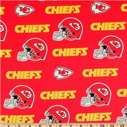 NFL Cotton Broadcloth Kansas City Chiefs Red/Yellow Fabric