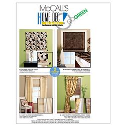 McCall's Window Treatments Pattern M5828 Size OSZ