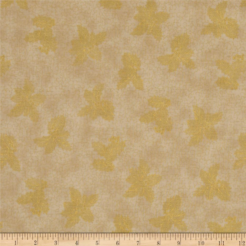 Warm Wishes Metallic Holly Cream/Gold
