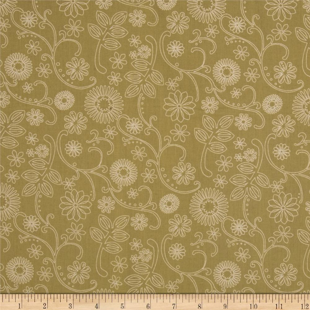 "110"" Wide Quilt Backing Signature Khaki"