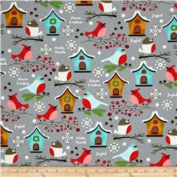 Moda Jingle Birds Birds & Houses Gray